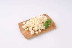 Crumbled feta cheese Stock Photography