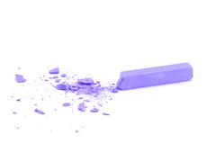 Crumbled lilac chalk Stock Photo