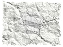 Crumbled paper. Illustrated crumbled paper Stock Photos
