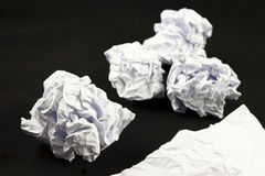 Crumbled Paper ball Stock Photography