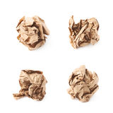 Crumbled paper ball isolated Stock Photo