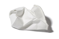 Crumbled Paper Cup Stock Image