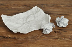Crumbled paper. A lot of crumbled up pieces of paper royalty free stock photography