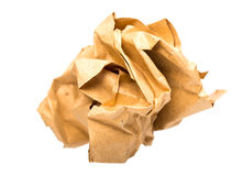 Crumbled paper. Over white background Stock Photography