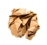 Crumbled paper. Over white background Royalty Free Stock Photo