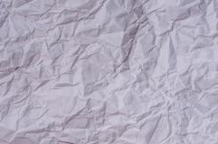 Crumbled paper sheet. For background Royalty Free Stock Photo