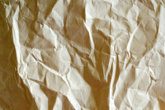 Crumbled paper. Texture of crumbled paper close up Stock Images