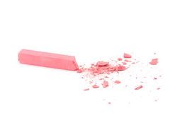 Crumbled pink chalk Royalty Free Stock Photos