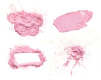 Crumbled pink powder. On white background Royalty Free Stock Photography