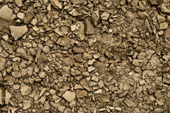 Crumbled rocks Stock Photography