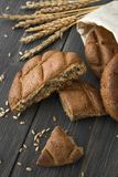 Crumbled rye bread scones royalty free stock image