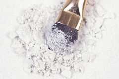 Crumbled shadows with professional applicator Royalty Free Stock Photo
