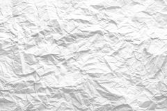 Crumbled white paper Royalty Free Stock Image