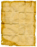 Crumbled wrinkled paper Royalty Free Stock Images