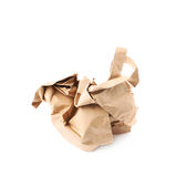 Crumbler paper bag isolated. Over the white background stock image