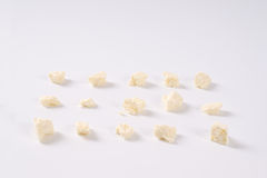 Crumbles of feta cheese Royalty Free Stock Images