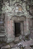 Crumbling ancient  temple siem reap cambodia Stock Image