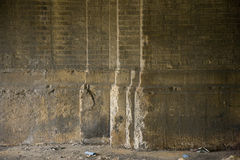 Crumbling brick wall. Old crumbling brick wall of a closed factory Royalty Free Stock Photo