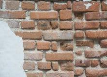 Crumbling Brick Wall Stock Image
