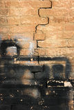 Crumbling brick wall Royalty Free Stock Photo