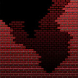 Crumbling bricks Stock Photography