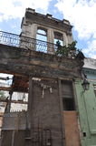 Crumbling building in havana cuba Royalty Free Stock Images