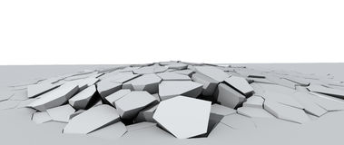 Crumbling concrete floor Royalty Free Stock Image