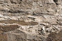 Crumbling concrete retaining wall Royalty Free Stock Photos
