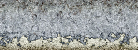 Crumbling concrete wall Royalty Free Stock Photo