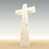 Crumbling Cross stock photography