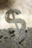crumbling dollar Royalty Free Stock Photos