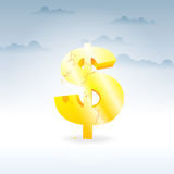 Crumbling Dollar stock image