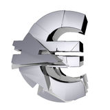 Crumbling Euro money symbol Stock Photo
