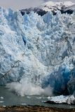 Crumbling glacier Perito Moreno Royalty Free Stock Photos