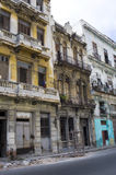 Crumbling Homes - Havana, Cuba Royalty Free Stock Images