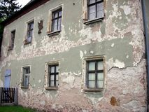 Crumbling House. A historic home in Germany in need of restoation stock photography