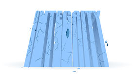 Crumbling Integrity. Integrity wall full of cracks ready for its demise royalty free illustration