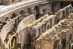 Crumbling Labrynth Under Coliseum Stock Image