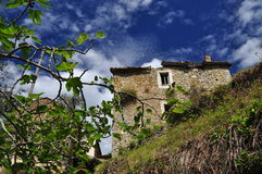 Crumbling mediterranean house in Liguria, Italy Royalty Free Stock Image