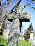 Crumbling old cross. An  old weathered cross on the hill Royalty Free Stock Photography
