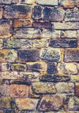 Crumbling Old Stone Wall Royalty Free Stock Photo
