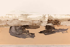 Crumbling plaster on the ceiling Royalty Free Stock Photo