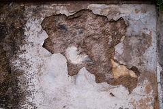 Crumbling plaster Stock Image