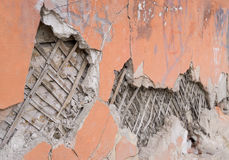 Crumbling plastered wall Stock Photos