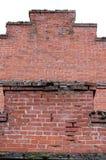 Crumbling Red Brick Wall Stock Photography