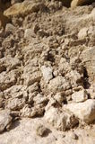 Crumbling rock. The debris from a crumbling wall Royalty Free Stock Images