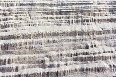 Crumbling on the slope downward sand Royalty Free Stock Images