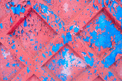 Crumbling surface of old paint painted Royalty Free Stock Photos