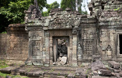 Crumbling temple siem reap cambodia Royalty Free Stock Photography