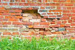 Crumbling wall Royalty Free Stock Photography